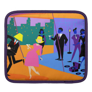 Retro städtische Dachspitze-Party iPad Hülse Sleeve Für iPads