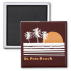 Retro Strand-Magnet St. Peter Quadratischer Magnet
