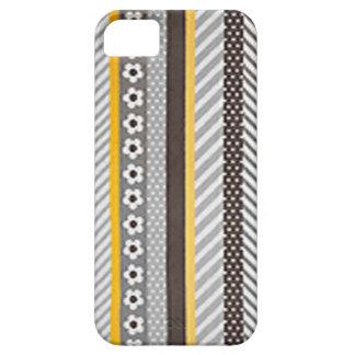 Retro Streifen und Gänseblümchen Barely There iPhone 5 Hülle