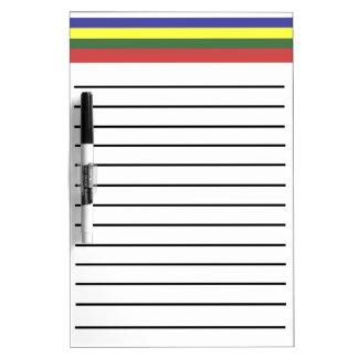 Retro Streifen zeichneten trockenes Löschen-Brett Trockenlöschtafel