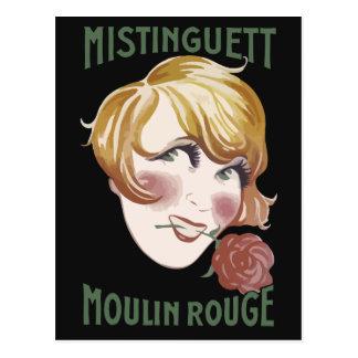 Rétro style français Mistinguett des années 1920 Carte Postale