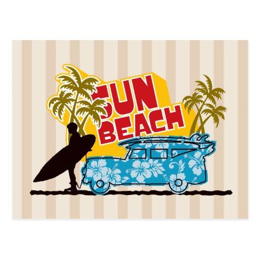 Retro Sun u. Brandung Postkarten