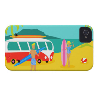 Retro Surfer-Paare iPhone Fall Case-Mate iPhone 4 Hülle