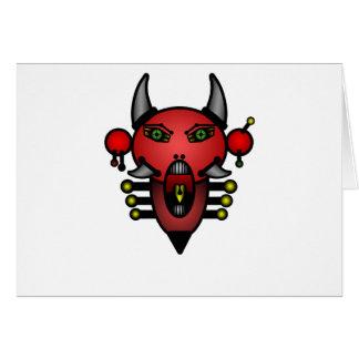 Retro Teufel Grußkarte
