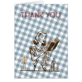 Retro themenorientiertes danken Ihnen zu kardieren Karte