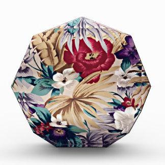 Retro tropisches Blumen-Muster Acryl Auszeichnung