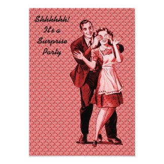 Retro Überraschungs-Party 12,7 X 17,8 Cm Einladungskarte