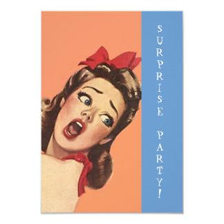 Retro Überraschungs-Party Einladungs-Spaß-Ausdruck Personalisierte Einladungskarte