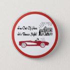 Retro und Vintages Bunco rotes Kabriolett Runder Button 5,1 Cm