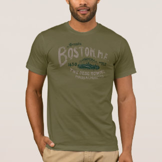 Retro USA Entwurf Bostons Massachusetts T-Shirt
