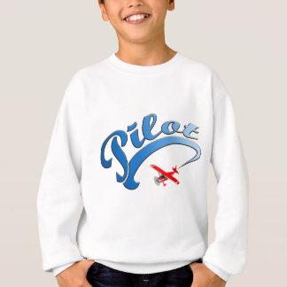 Retro Versuchsgraphik mit blauem Text Sweatshirt