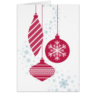 Retro Verzierungs-Weihnachtskarte Karte