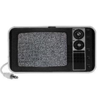 Rétro vieille TV avec l'écran statique Haut-parleurs Notebook