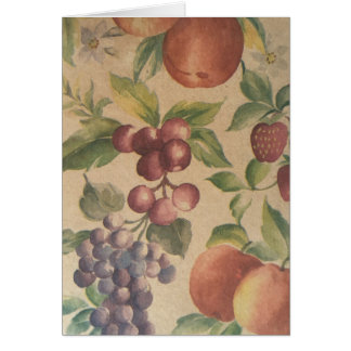 Retro Vintage Frucht-Beeren-Gruß-Karte Karte