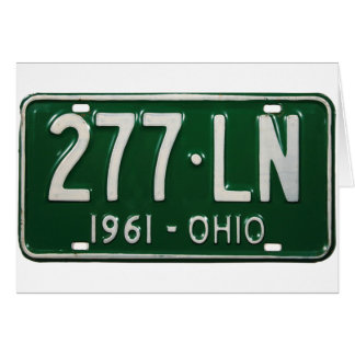 Retro Vintage Lizenz-Platte Kitsch-Auto-Ohios 1961 Karte