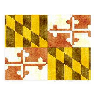 Retro Vintage Maryland-Flagge Postkarte