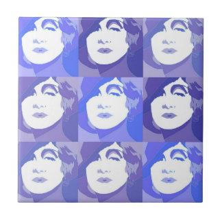Retro Vintage Pop-Kunst-moderne Dame Gift Tile Fliese