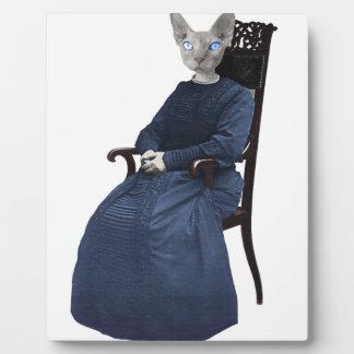Retro Vintage Sphynx Katze gesetzt Fotoplatte