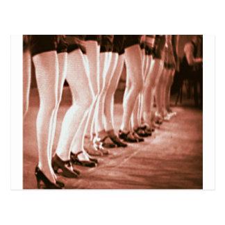 Retro Vintage Tanzen-Frauen-schöne Tanzen-Beine Postkarte