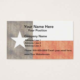 Retro Vintage Texas-Flagge Visitenkarte