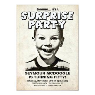 Retro Vintage Überraschungs-Party Einladung
