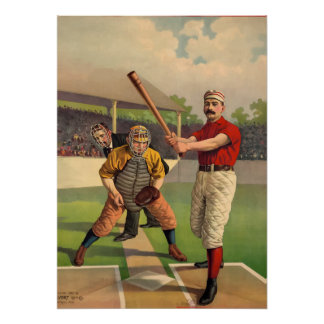 Retro Vintager Baseball-klassisches altes Plakat
