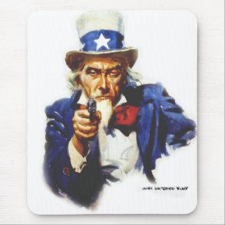 Retro Vintager Kitsch besteuert Uncle Sam Mit Mauspad