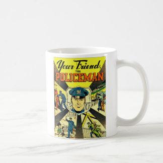Retro Vintager Kitsch Ihr Freund der Polizist Kaffeetasse