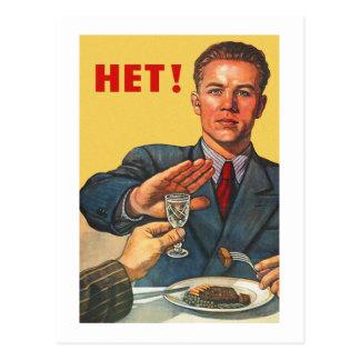 Retro Vintager Kitsch-sowjetischer Postkarte