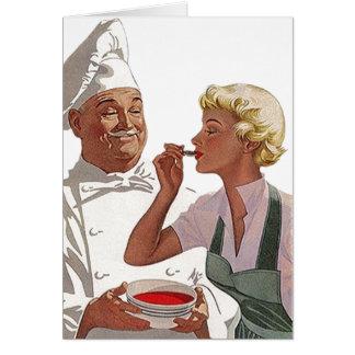 Retro Vintager Koch weg von der Karte
