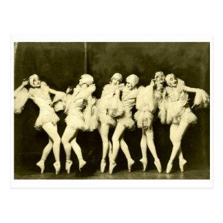 Retro Vintager schöner Tanzen-Frauen-Ballett-Tanz Postkarte