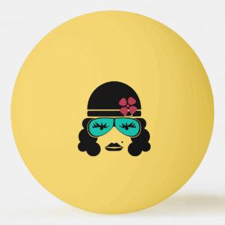 Retro Vintager Silhouette-Tischtennis-Ball Tischtennis Ball