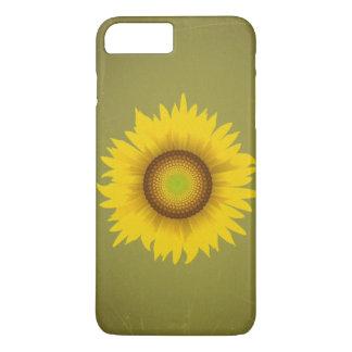 Retro Vintager Sonnenblume-Entwurf iPhone 8 Plus/7 Plus Hülle