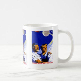 Retro Vintager Sowjet-Raum Kitsch Sci FI UDSSR Kaffeetasse