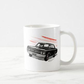Retro Vintages Kitsch-60er Polizist-Polizei-Auto Kaffeetasse