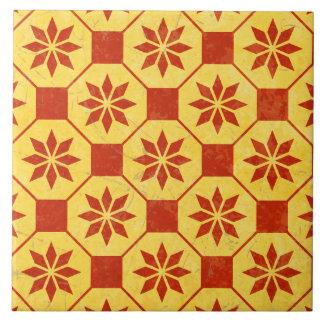 Retro Vintages Mosaik-Muster Große Quadratische Fliese