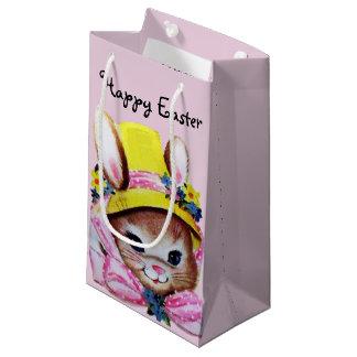 Retro/Vintages Osterhasen-Rosa Kleine Geschenktüte