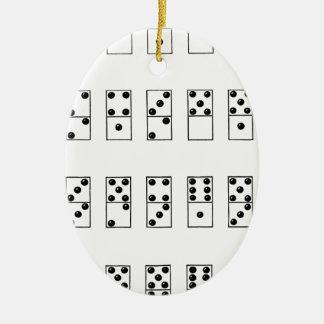 retro Vintages Set Dominos Keramik Ornament