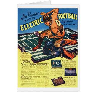 Retro Vintages Spielzeug-'elektrischer Fußball Grußkarte