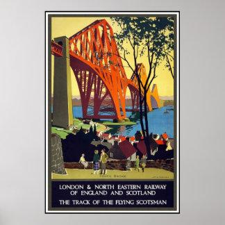 Rétro voyage vintage Angleterre Ecosse d'image d'i Poster