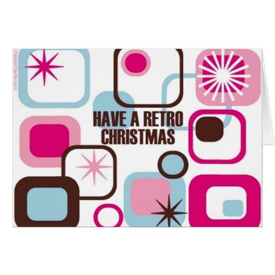 Retro Weihnachten Grußkarte
