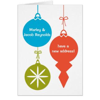 Retro Weihnachten verziert neue Karte