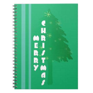Retro Weihnachtsbaum-Entwurf Notizblock