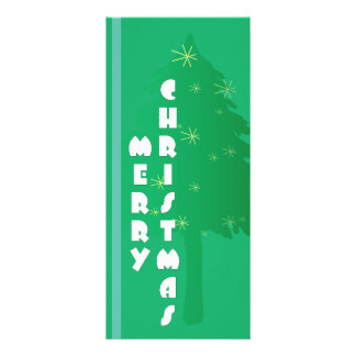 Retro Weihnachtsbaum-Entwurf Werbekarte