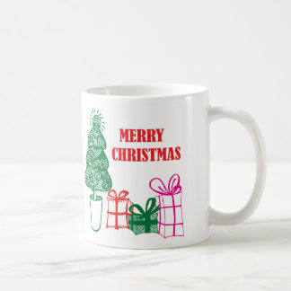 Retro Weihnachtsbaum Tasse