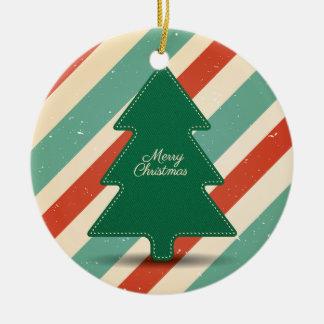 Retro Weihnachtsentwurfs-Verzierung Keramik Ornament