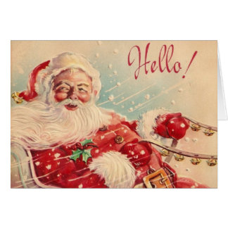 Retro Weihnachtssankt-Gruß-Karte Karte