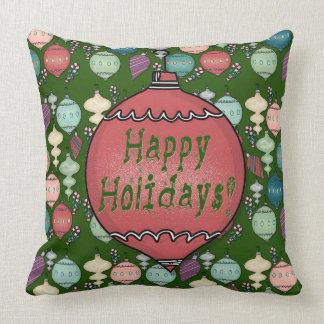 Retro Weihnachtsumladen - Pastelle auf Kissen
