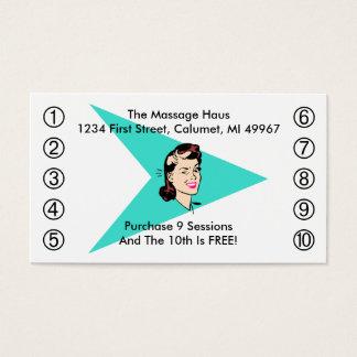 Retro Wink-Geschäfts-Lochkarten irgendein Geschäft Visitenkarten