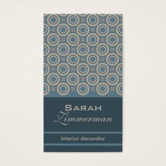 Retro Zahn-aquamarine Geschäfts-Karte Visitenkarten